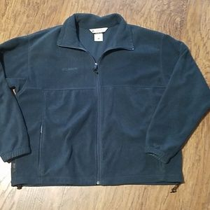 Columbia fleece full zip jacket XL teal green